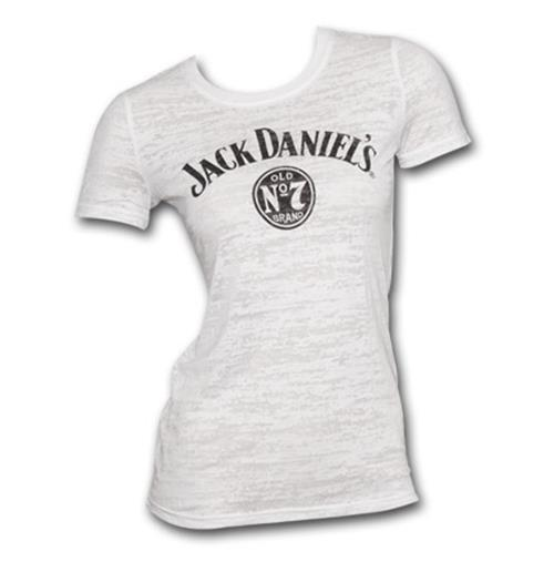 97314aad0 Official JACK DANIELS Logo Burnout Juniors TShirt  Buy Online on Offer