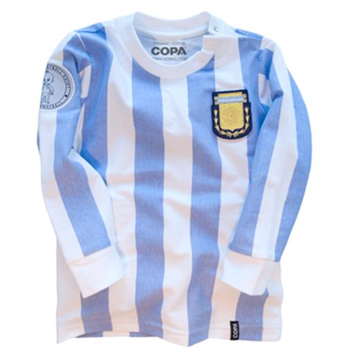 Argentina 'My First Football Shirt' Long Sleeve 90% organic cotton / 10% elasthan