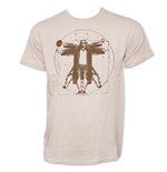 The Big Lebowski Vitruvian Da Vinci Tan Graphic Tee Shirt