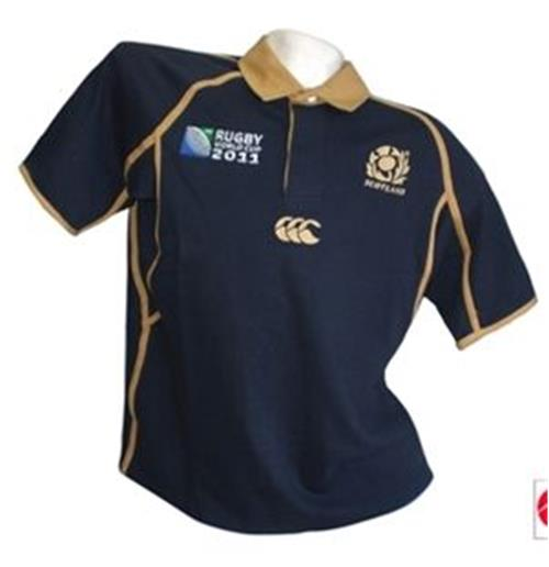 "Scotland Home ""Gold World Cup 2011"" Rugby Jersey"