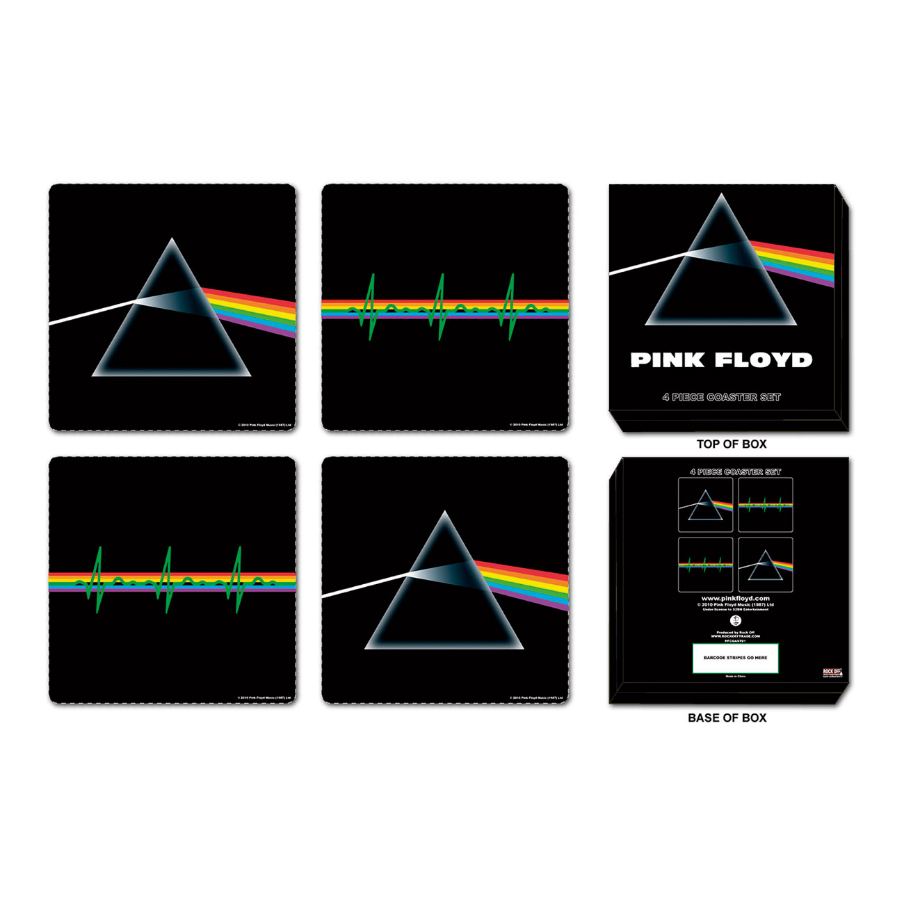 Pink Floyd Coaster - Box 4. Emi Music officially licensed product.
