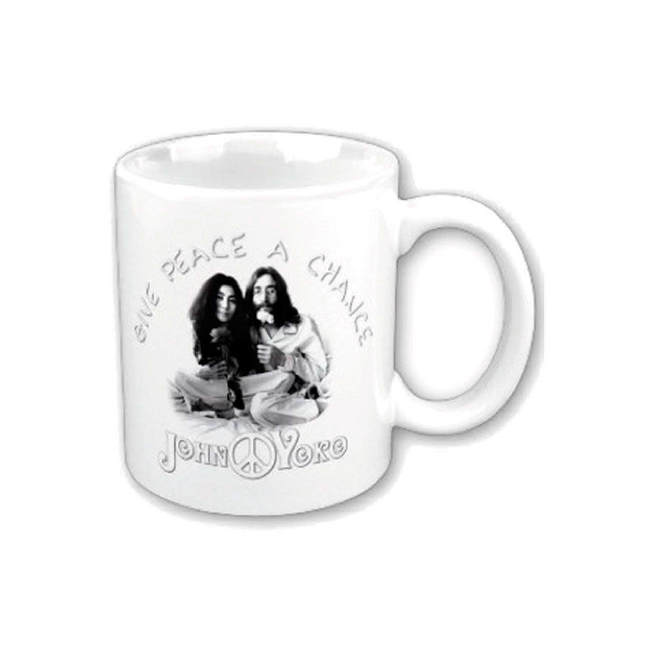 John Lennon Mug Give Peace A Chance. Emi Music officially licensed product.