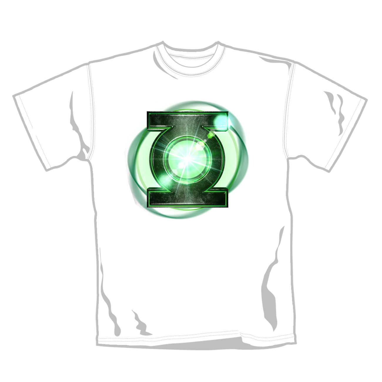 Green Lantern T Shirt  Gl  Logo Glow. Emi Music officially licensed t-shirt.