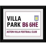 Aston Villa Street Sign Framed Photographic Print