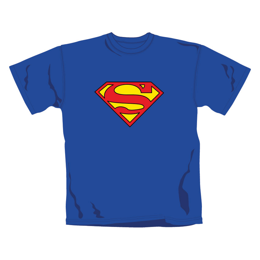 Superman T Shirt Logo. Emi Music officially licensed t-shirt.