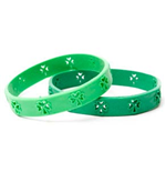 ST. PATRICK'S DAY Shamrock Green Rubber Wristband