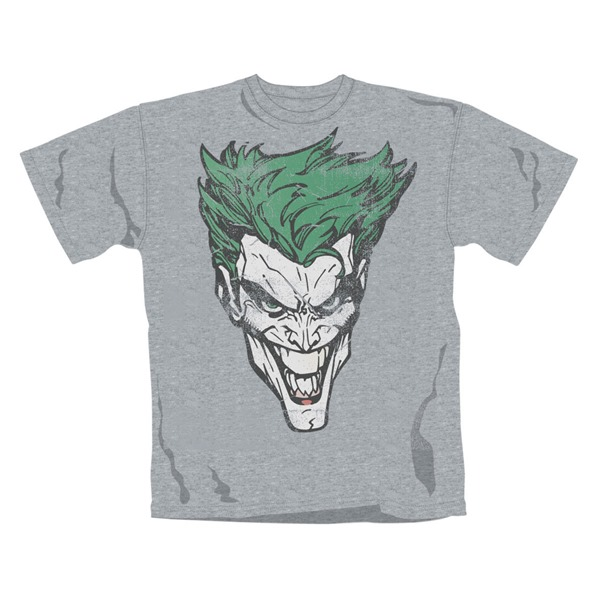 Batman T Shirt Joker Retro Face. Emi Music officially licensed t-shirt.