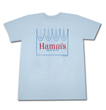 HAMM'S Beer Crown Light Blue Graphic Tee Shirt
