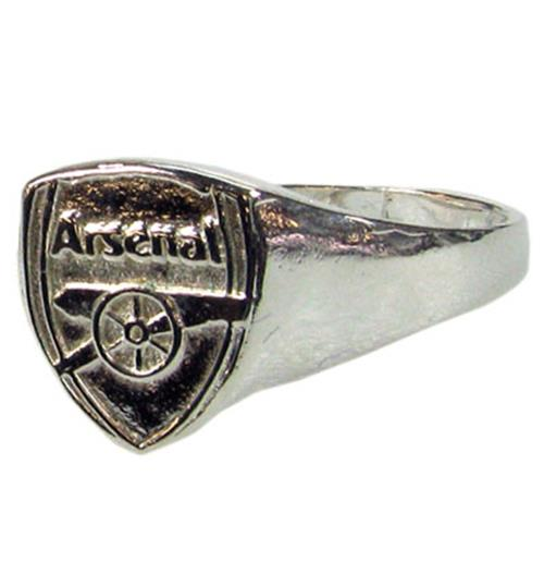 Arsenal F.C. Silver Plated Crest Ring Large