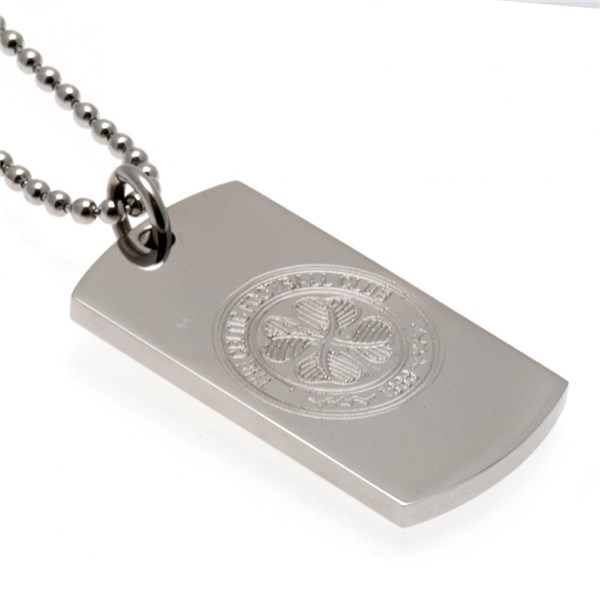 Celtic F.C. Engraved Crest Dog Tag and Chain