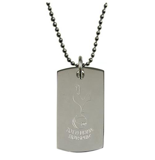 Tottenham Hotspur F.C. Engraved Crest Dog Tag and Chain