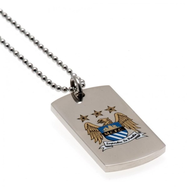 Manchester City F.C. Colour Crest Dog Tag