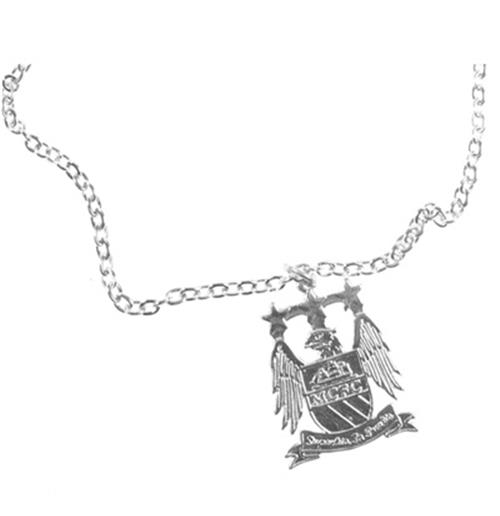 Manchester City F.C. Silver Plated Pendant and Chain