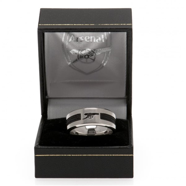 Arsenal F.C. Black Inlay Ring Medium