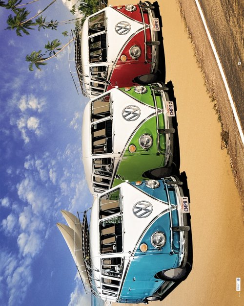 VW Californian Campers Mini Poster