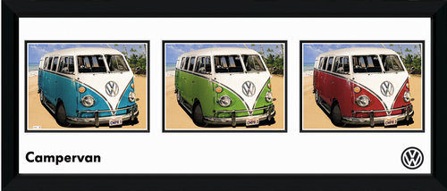 VW Californian Camper Storyboard Framed Photographic Print