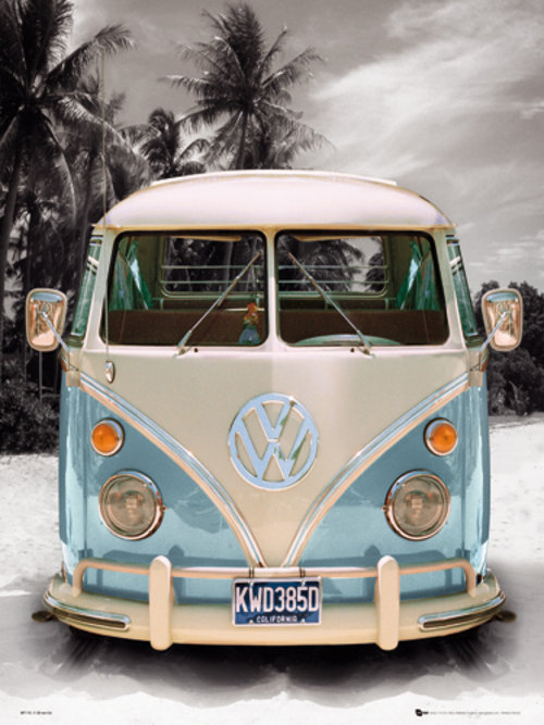 VW Californian Camper Mini Poster