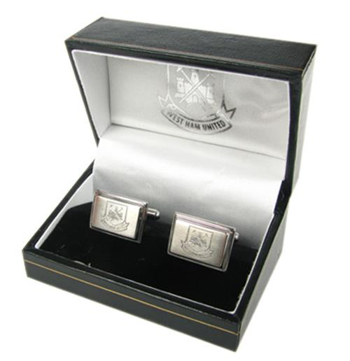 West Ham United F.C. Stainless Steel Cufflinks