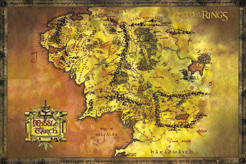 Lord Of The Rings Classic Map (Exclusive) Maxi Poster