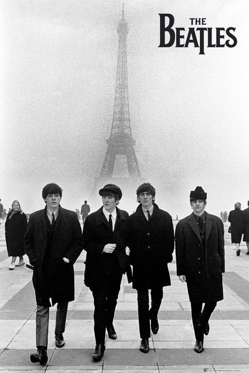 The Beatles Paris Maxi Poster