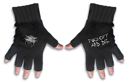 Darkthrone Logo Gloves