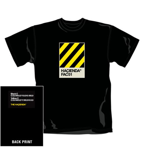 The Hacienda T Shirt Pantone. Emi Music officially licensed t-shirt.