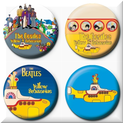 The Beatles 4 Badges Badgepack 3