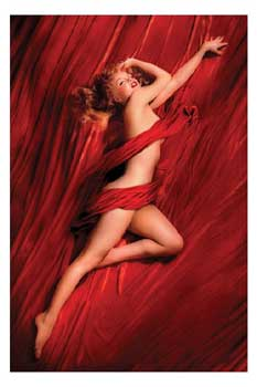 Marilyn Monroe   Red Silk   Poster