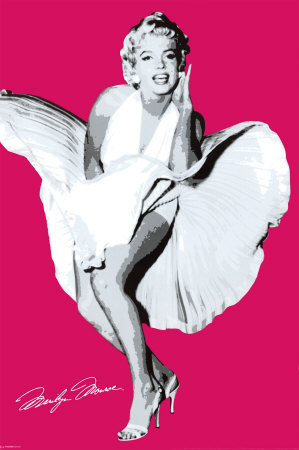 Marilyn Monroe Seven Year Pink   Poster