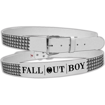 Fall Out Boy Logo With Studs Leather Belt