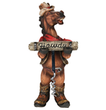 Horse Holding Corkscrew Bottle Opener