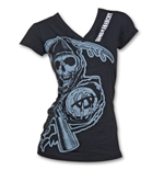 SONS OF ANARCHY Cover-up Women's Shirt Black