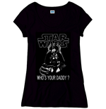 Star Wars Ladies T-Shirt Who´s Your Daddy black