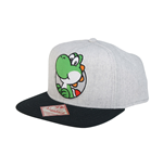 Nintendo Flex Wide Bill Cup Grey Yoshi