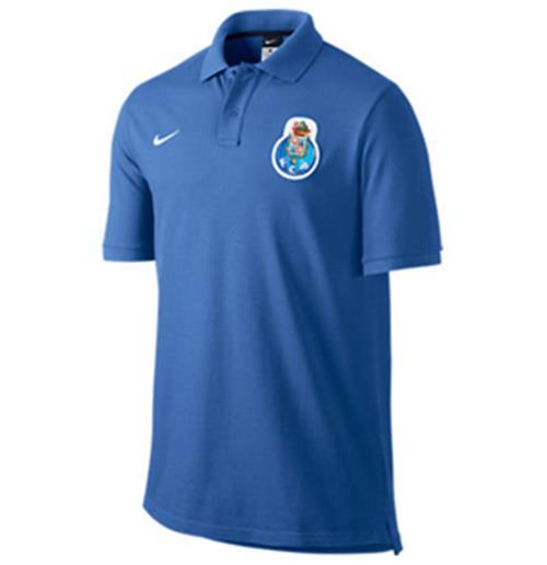 2013 14 Porto Nike Authentic GS Polo Shirt (Blue)